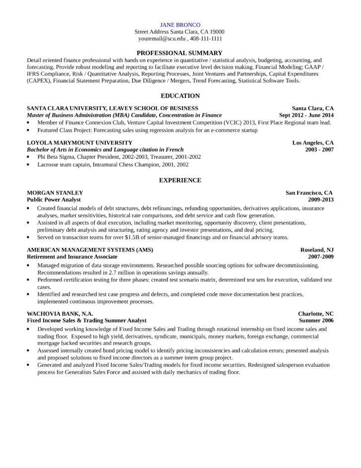 research analyst resume sample simple quantitative research