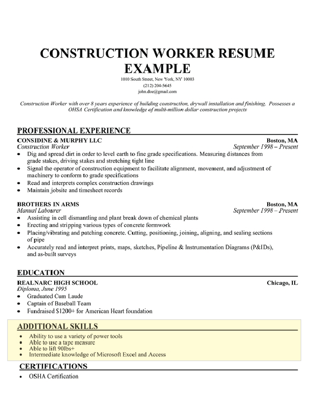 Download Resume Examples