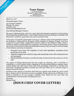 Chef Resume 3 Cover Letter