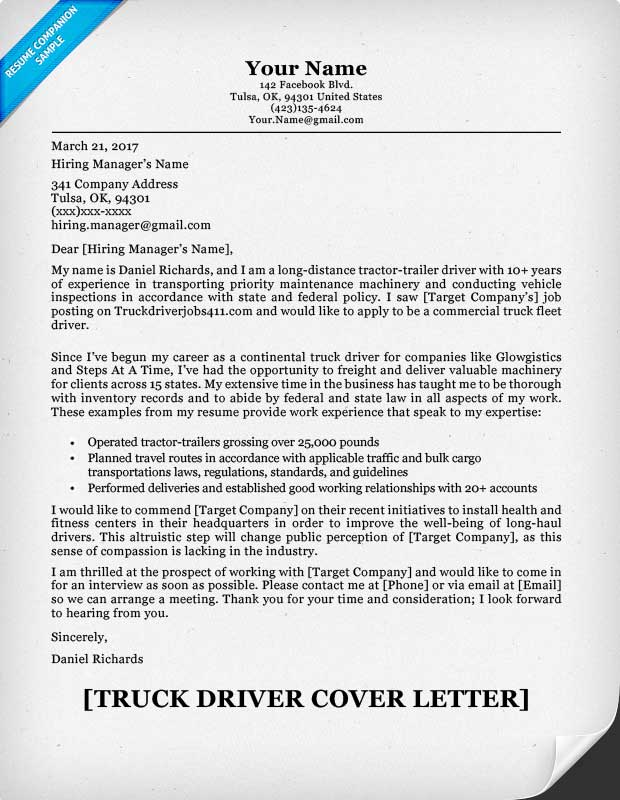 Truck Driver Resume Sle And Genius