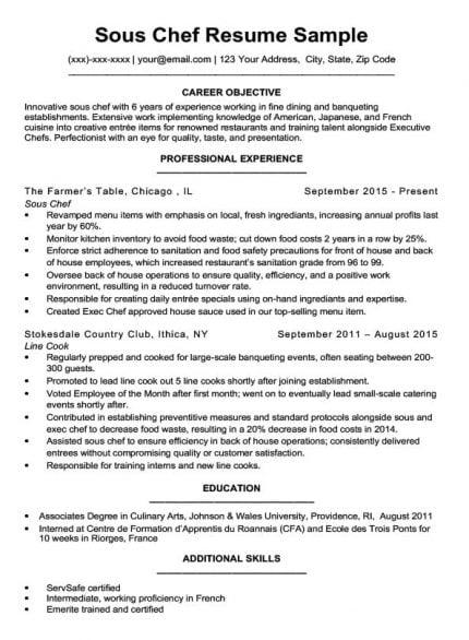 Prep Cook Resume Sample Writing Tips Resume Companion