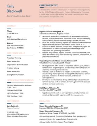 100 Free Resume Templates For Microsoft Word Resume Companion