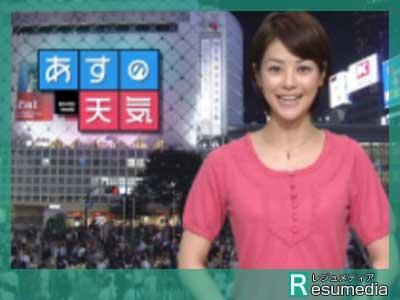 夏目三久 NNNニューススポット・お天気