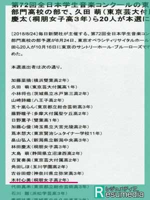木村心美 桐朋女子高等学校