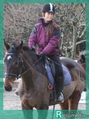 トラウデン直美 乗馬
