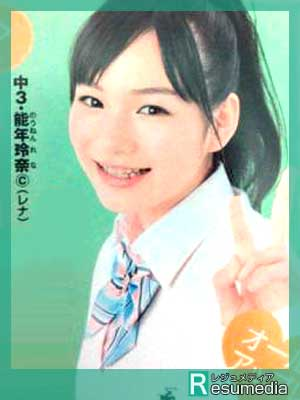 のん(能年玲奈)雑誌 ニコラ 中学生 3年