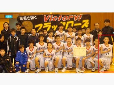 杉野遥亮 小学校 バスケットボールチーム ブラックローズ