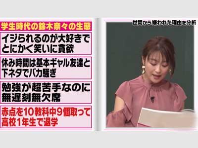 鈴木奈々 テレビ しくじり先生