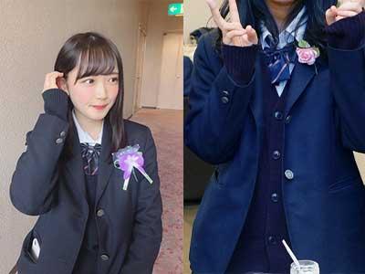 反田葉月 飛鳥未来高等学校制服比較画像