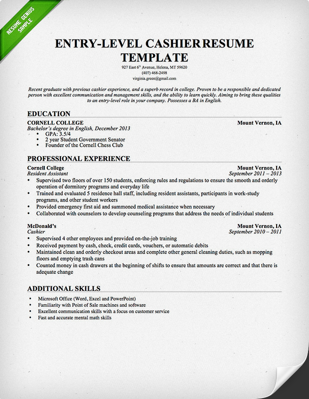 cashier resume sample amp writing guide resume genius