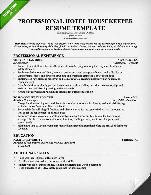 housekeeping supervisor resume housekeeping supervisor resume best