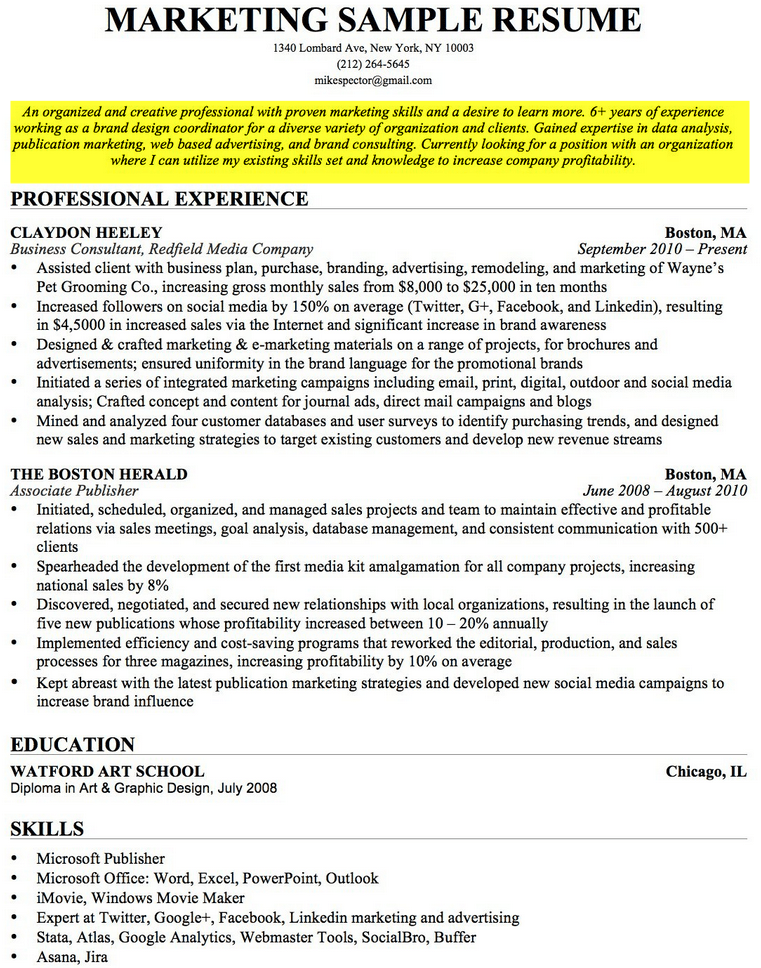 Retail Store Manager Sample Resume Example