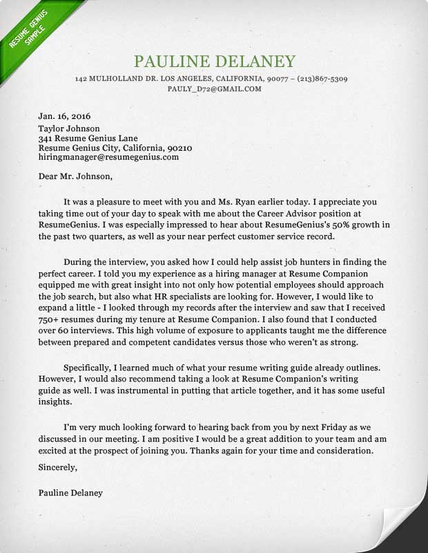 Sample Thank You Letter For Resume Consideration