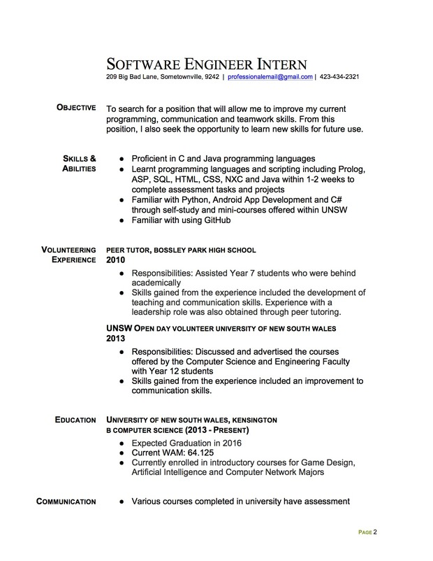 Sample College Resumes  Sample Resume And Free Resume Templates