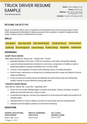 Truck Driver Cover Letter Example Writing Tips Resume Genius
