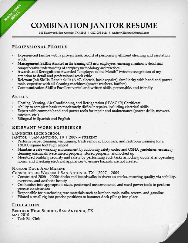 Resume For Custodian Imagerackus Ravishing Free Resume Templates