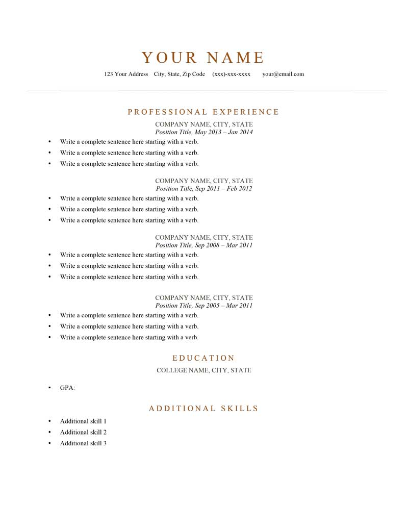 elegant burnt orange picture of resume examples newsound co