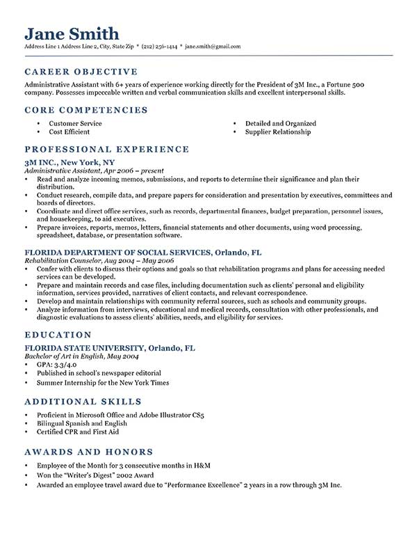 What Is Needed On A Resume. How To Write A Career Objective On A