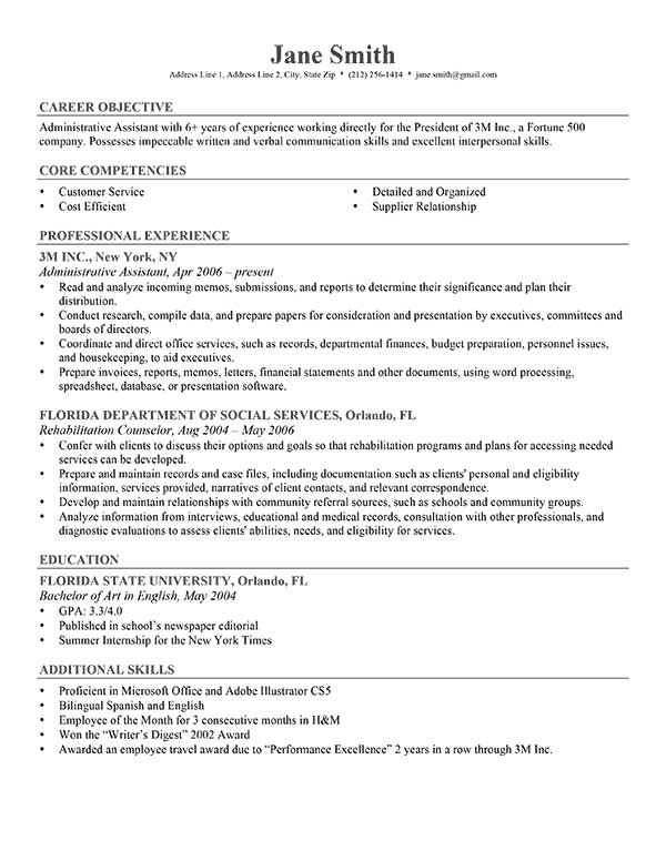 Work Objective Resume. Breakupus Prepossessing Good Resume