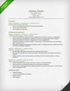 How to Write a Great Resume   The Complete Guide   Resume Genius Student Reverse Chronological Resume Sample