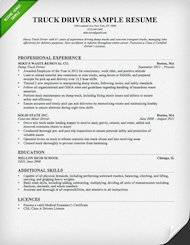 Truck Driver Resume Sample And Tips Genius