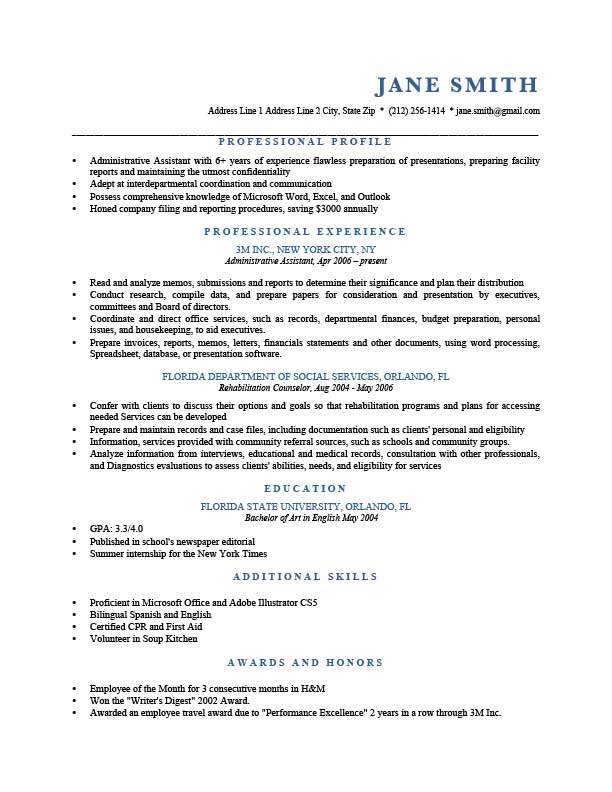 How To Write A Resume Profile Examples Writing Guide Rg