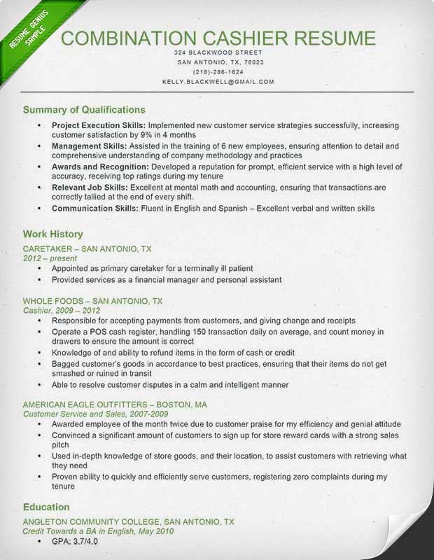 Sample Of A Combination Resume Format. Resume Format 2013
