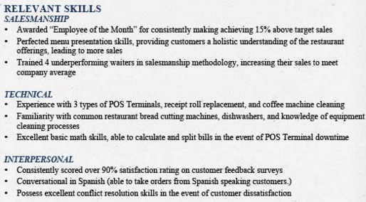sample skills section of resume how to write a resume skills resume template skills section