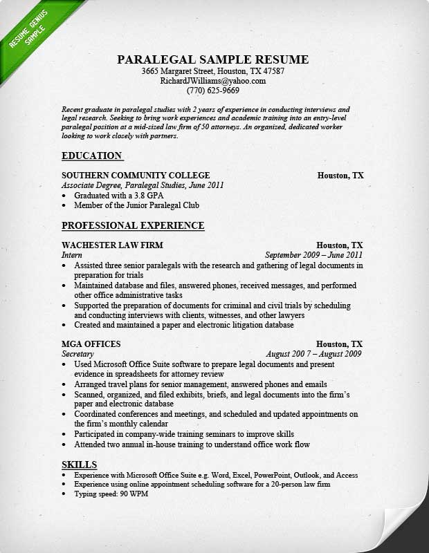First year associate attorney resume sample