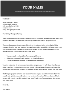 120 Free Cover Letter Templates Ms Word Download Resume