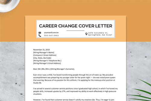 How To Write A Career Change Cover Letter Example Resume Genius