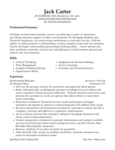 Best Quality Control Specialist Resumes Resumehelp
