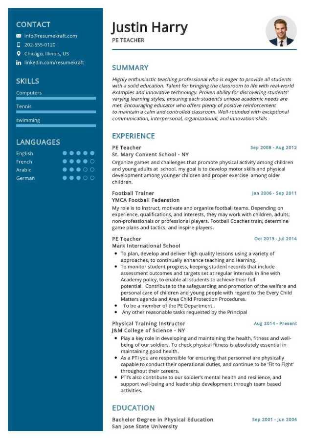 PE Teacher Resume Sample 25  Writing Guide & Tips - ResumeKraft