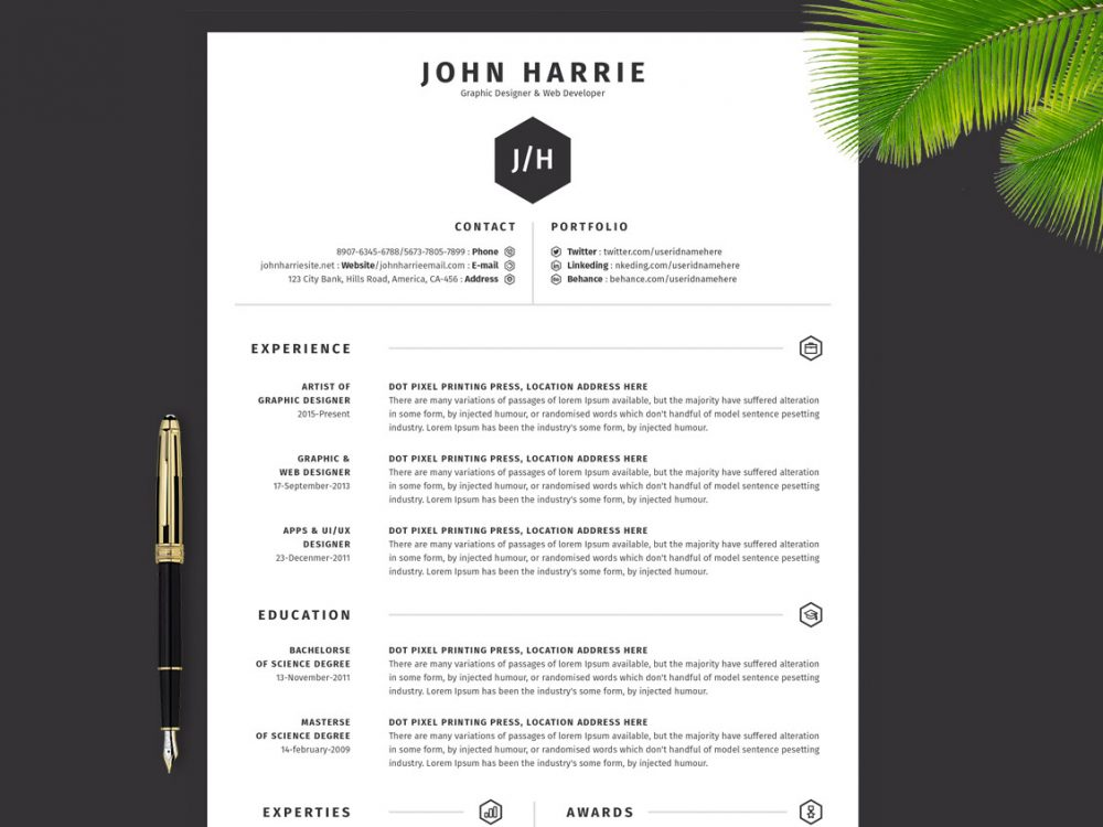 Simple Resume Template Download In Word PSD AI Formats ResumeKraft