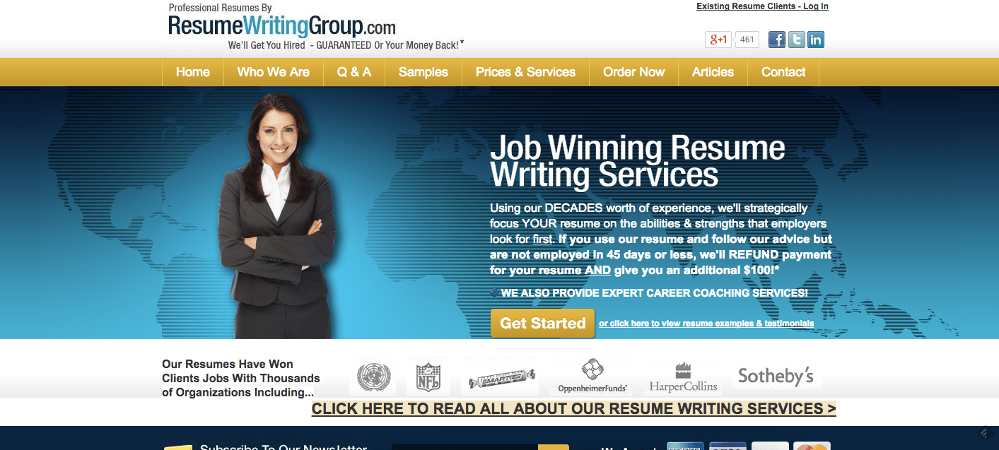 Resume Writing Services   Compare the Top Resume Services ResumeWritingGroup Com Review