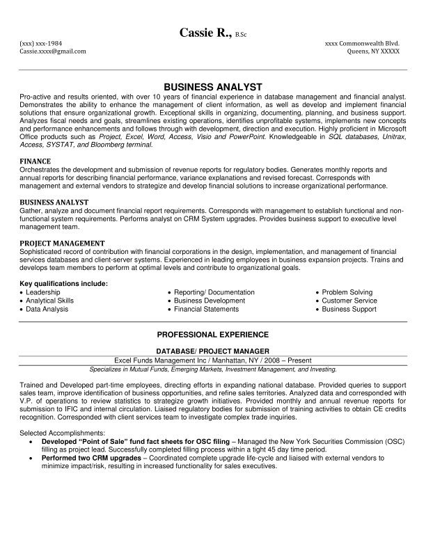 Financial Analyst Resume Example  Resume Examples And Free Resume