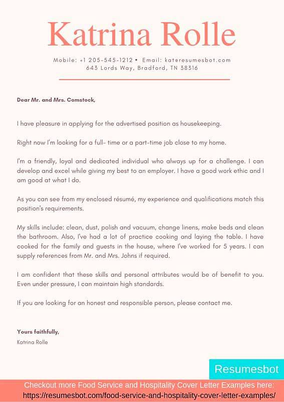 Housekeeper Cover Letter Samples Templates Pdf Word 2021 Housekeeper Cover Letters Rb