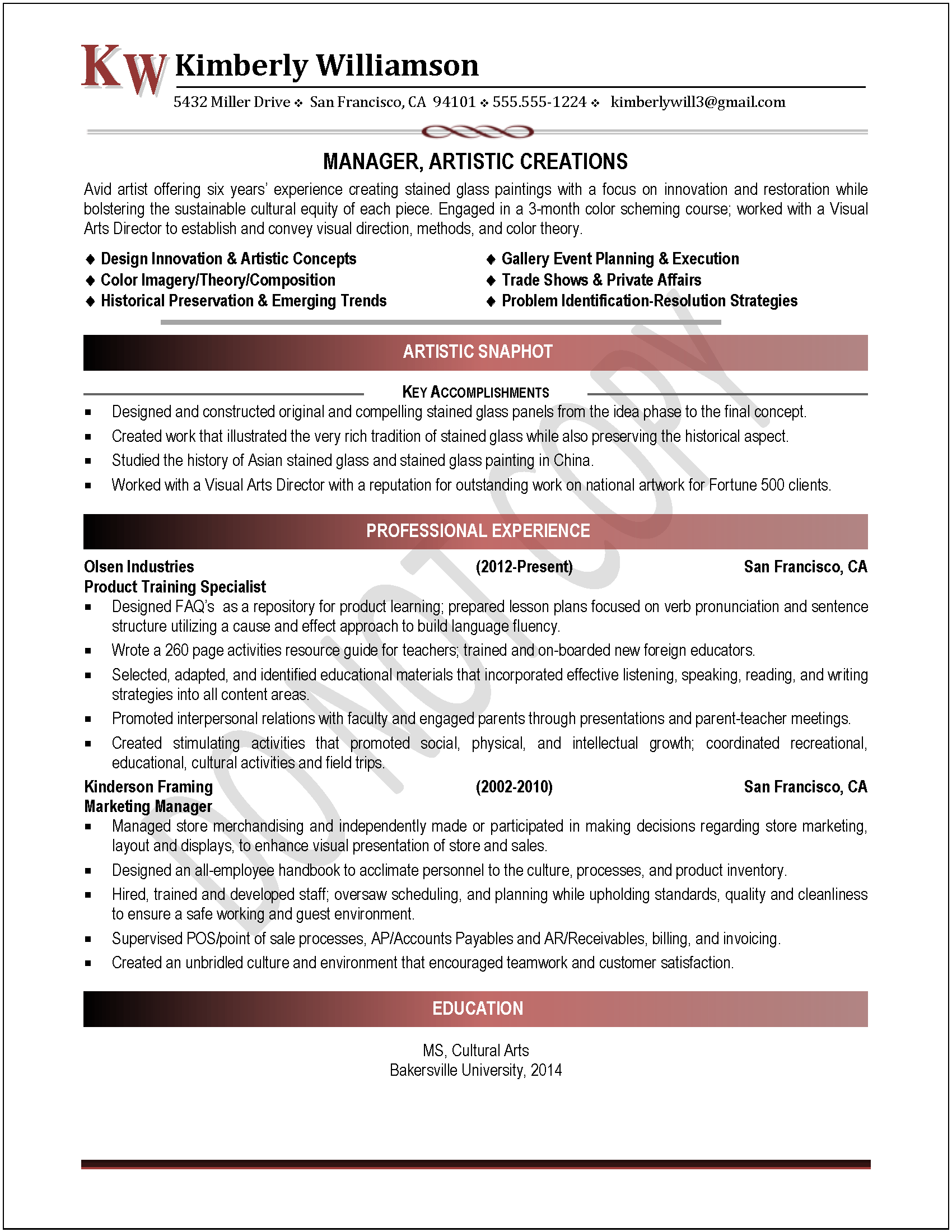 executive resume samples professional resume samples resumes entry level resume example marketing