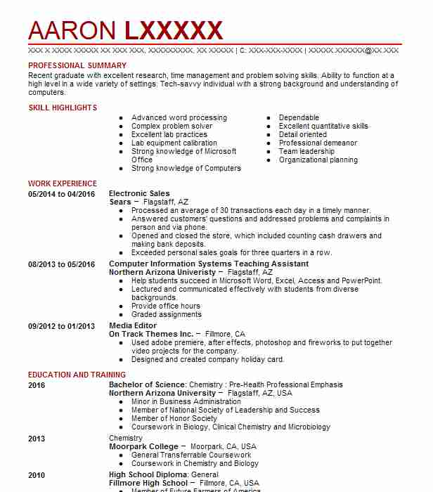 Electronic Sales Resume Example Sales Resumes Livecareer