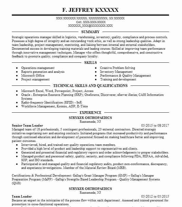 strategic sourcing resume