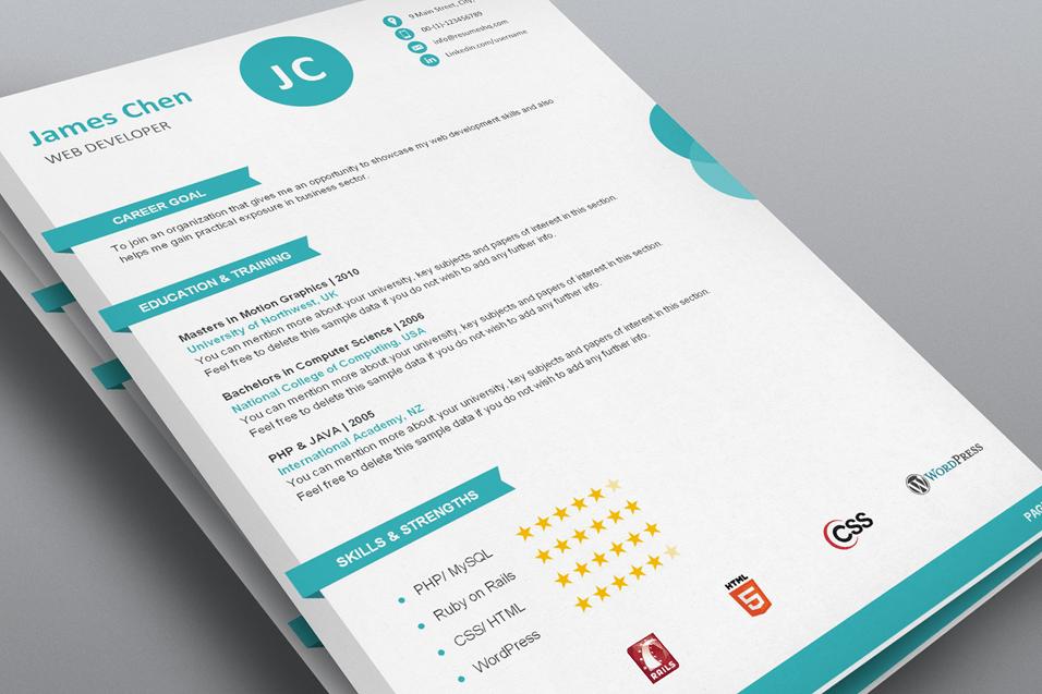 creative word resume templates