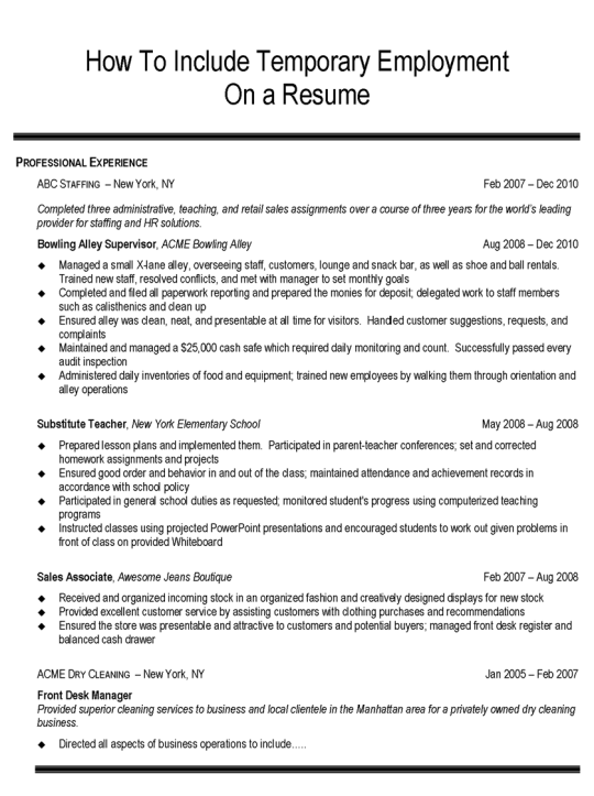 Resume Employment History Dates. Resume Examples Sample Resume Of