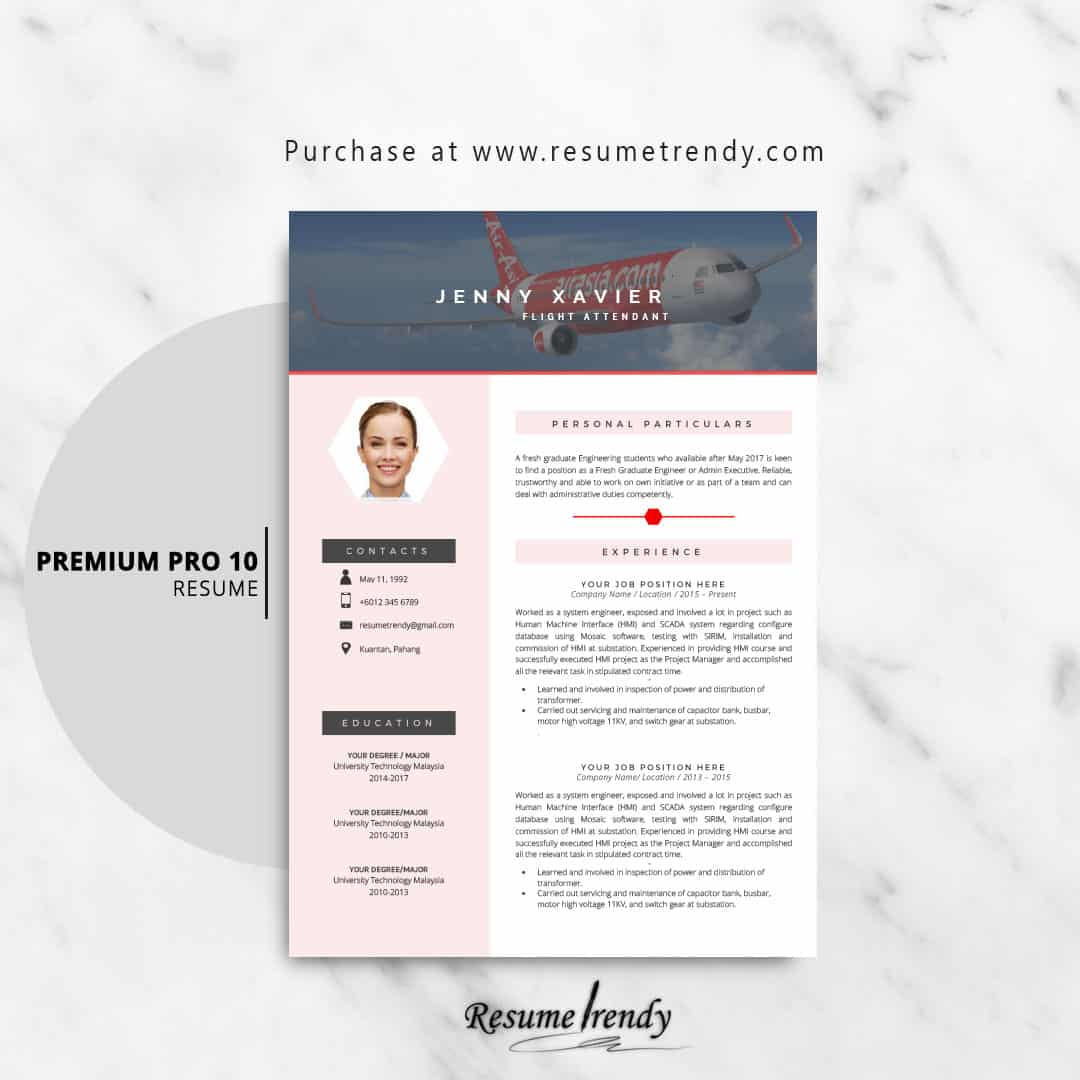 Flight Attendant Resume Templates Resume Trendy
