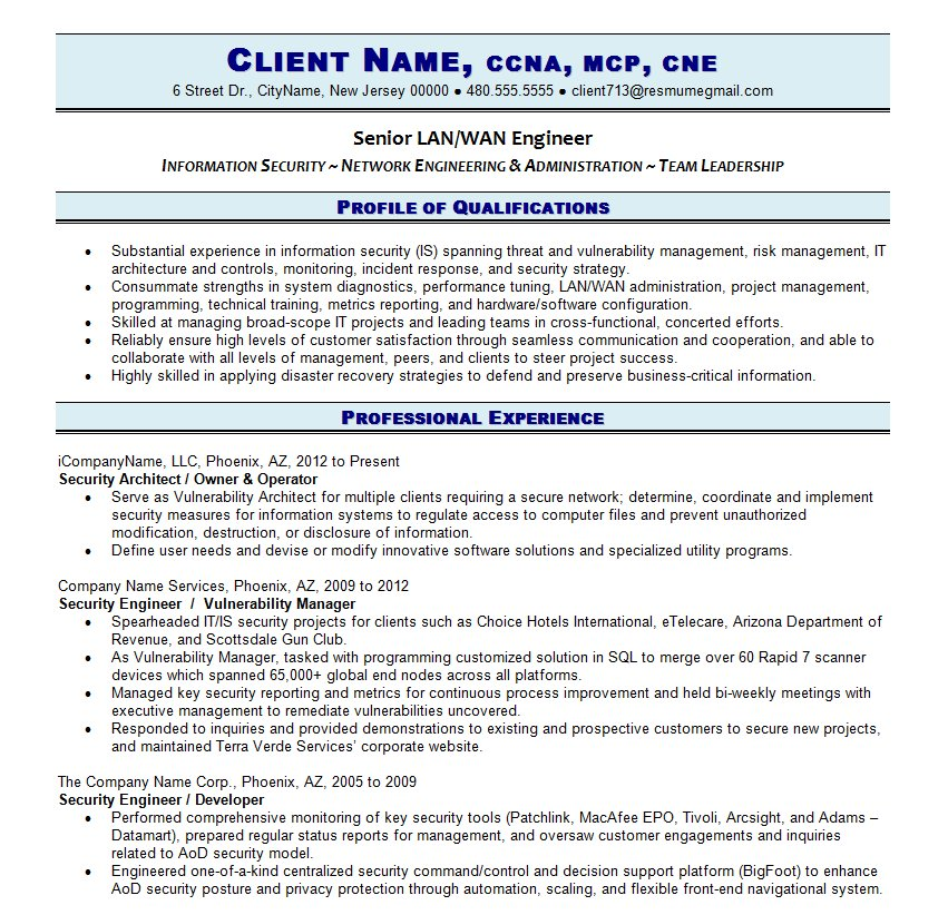 it resume cv template