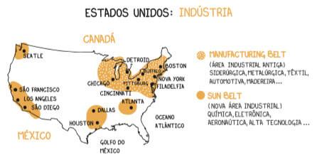 Estados-Unidos-Mapa-Áreas-Industriais