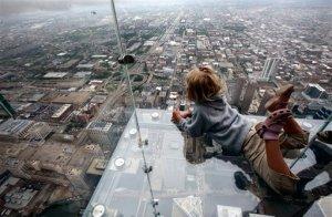 Photo Courtesy of Associated Press Sears Tower Glass Balcony