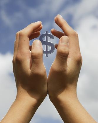 L'exaltation de l'argent, image recadrée et retouchée pour démontre l'importance de l'argent.