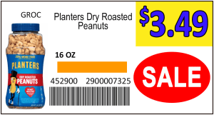Large custom label Planters Peanuts_SALE