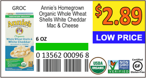 Large custom label with health logos