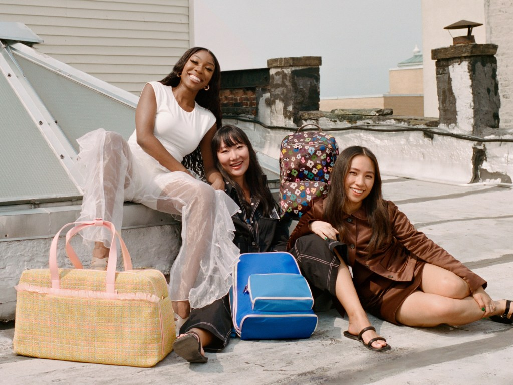 Away partners with Sandy Liang, Tia Adeola, and Ji Won Choi to launch inaugural designer collaboration series.
